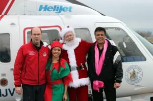 l to r: Robert Wand, Elf - Gizelle Manese, Santa, Daniel Sitnam